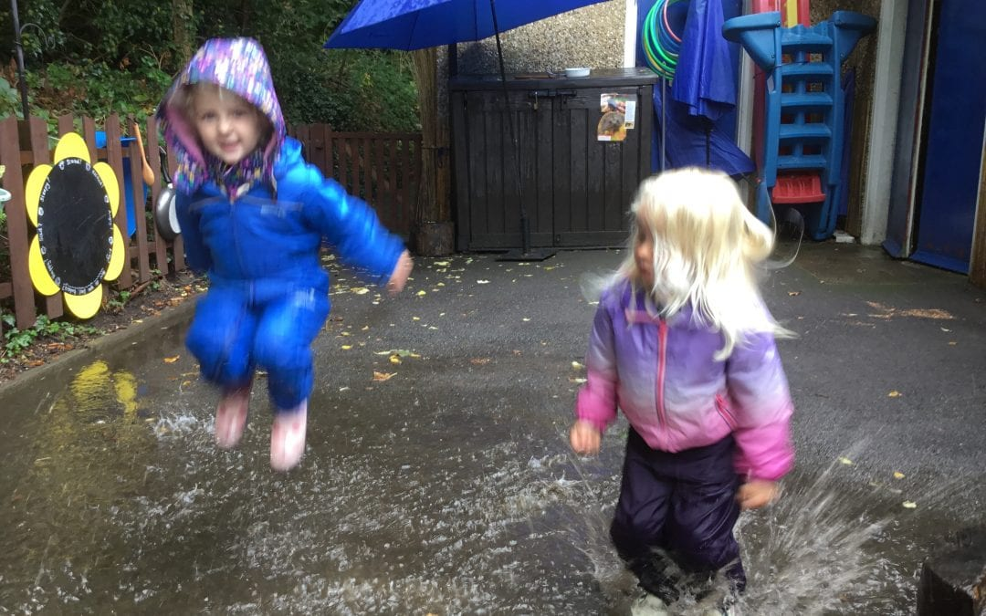 It's been wet and rainy, but that's not stopped us